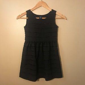 Gap girls black striped sparkle dress size 6-7